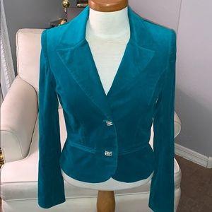 Velvet Aqua Color Blazer